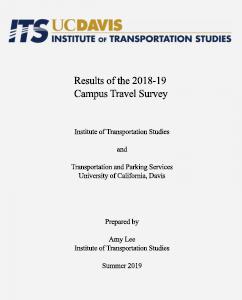 2018-19 Campus Travel Survey Report
