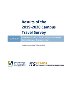 2019-20 Campus Travel Survey