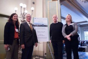 Governor Jerry Brown with (from left) Michelle Passero and Louis Blumberg of The Nature Conservancy and (far right) Kit Batten of the UC Davis Policy Institute for Energy, Environment and the Economy