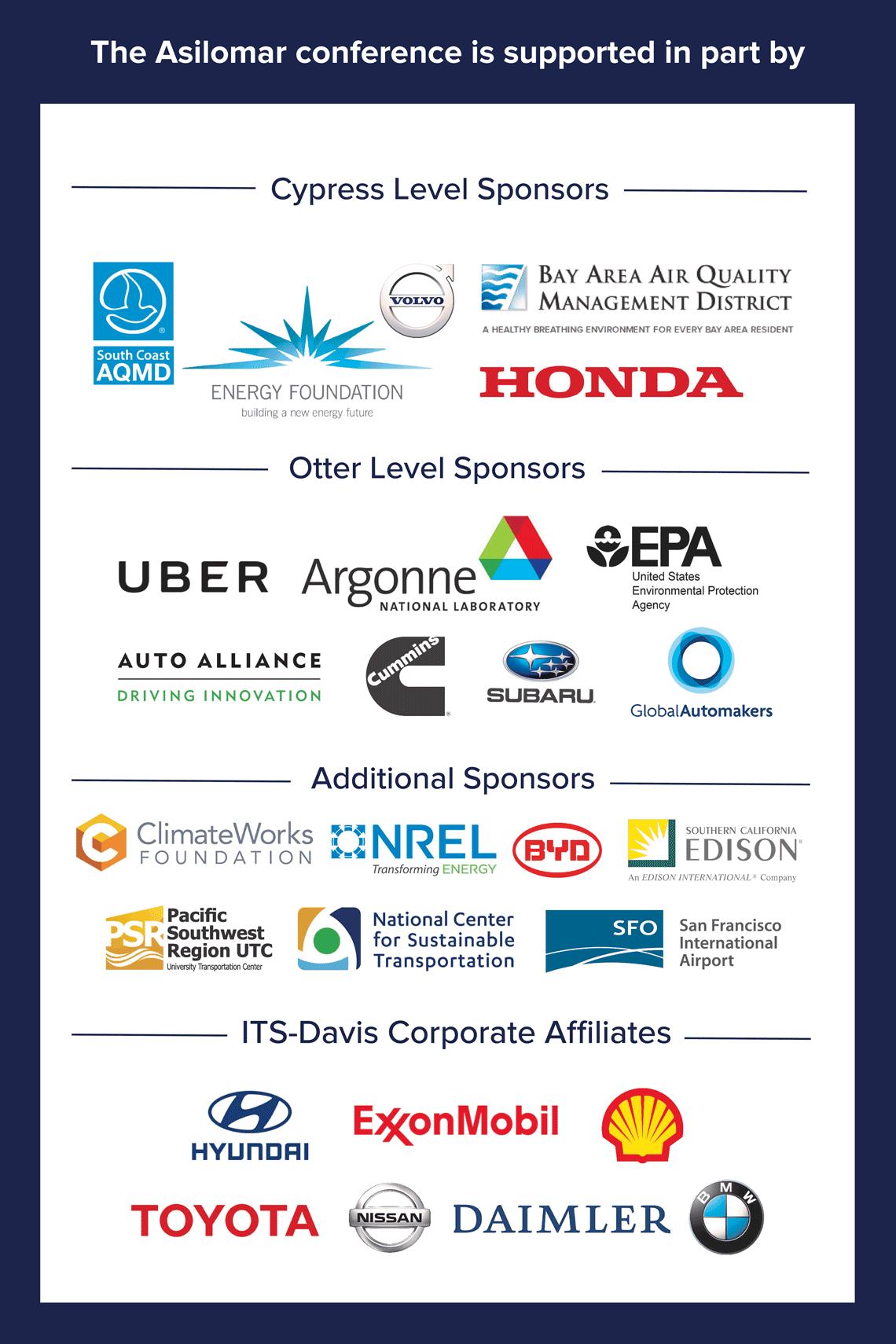 Asilomar 2019 Sponsors