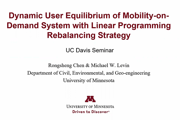 Dynamic User Equilibrium of Mobility-on-Demand System with Linear Programming Rebalancing Strategy