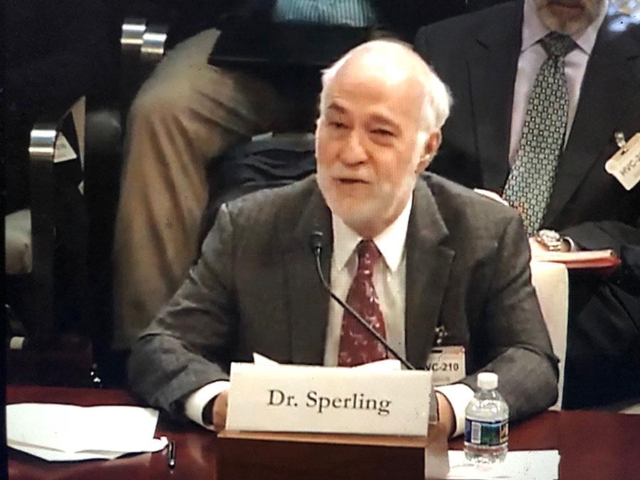 Dan Sperling Testifying to Congress
