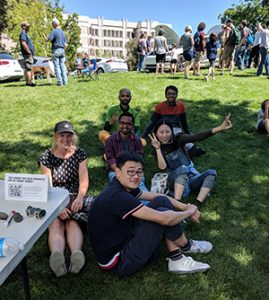Image of People on Grass at Picnic Day 2018 EV Showcase