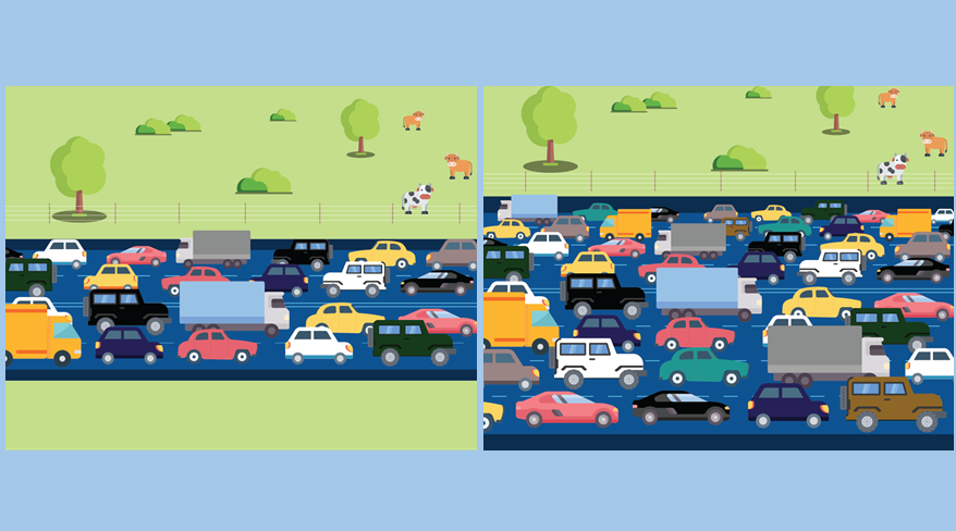 Illustration of traffic congestion