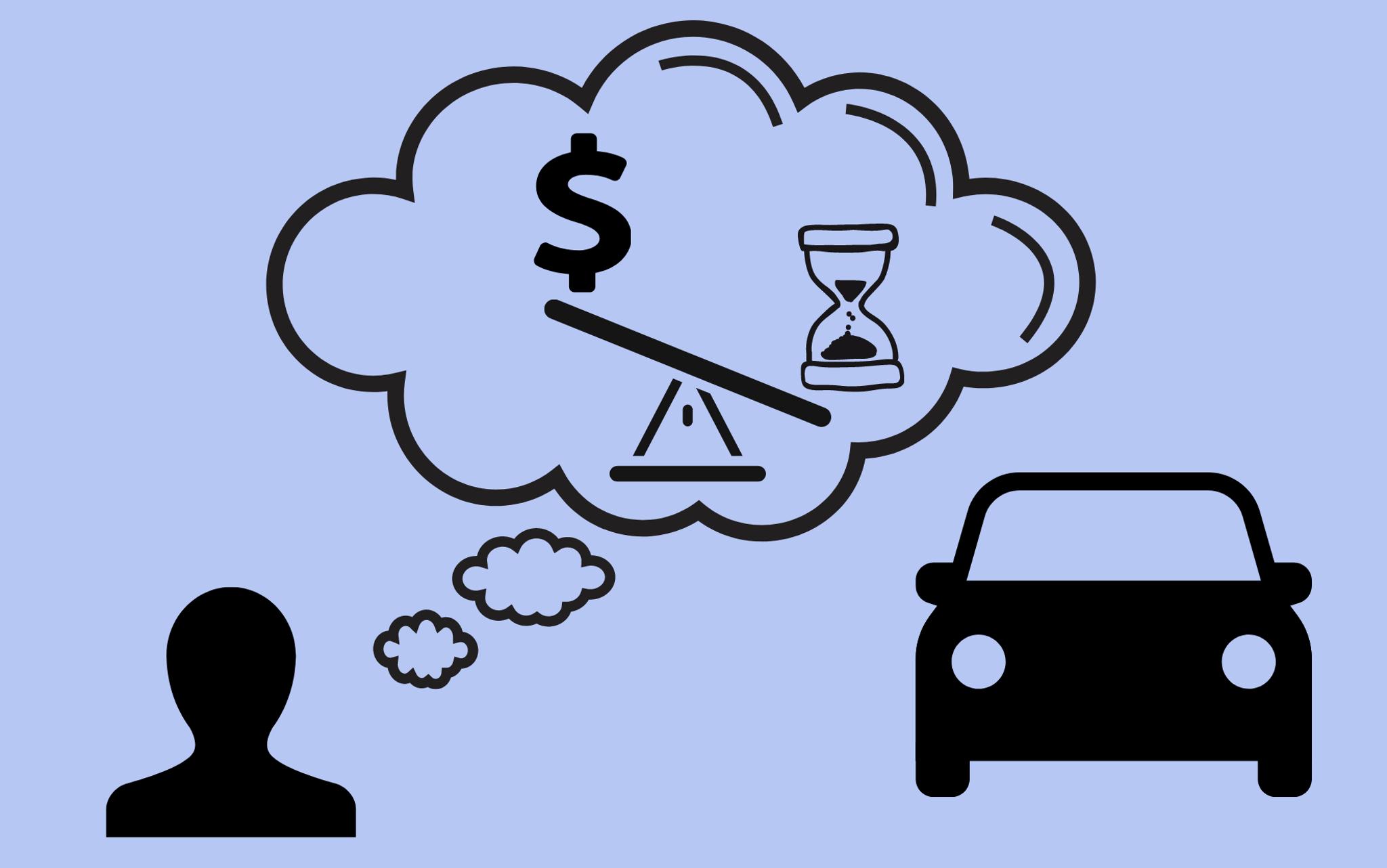 Illustration of money/time balance