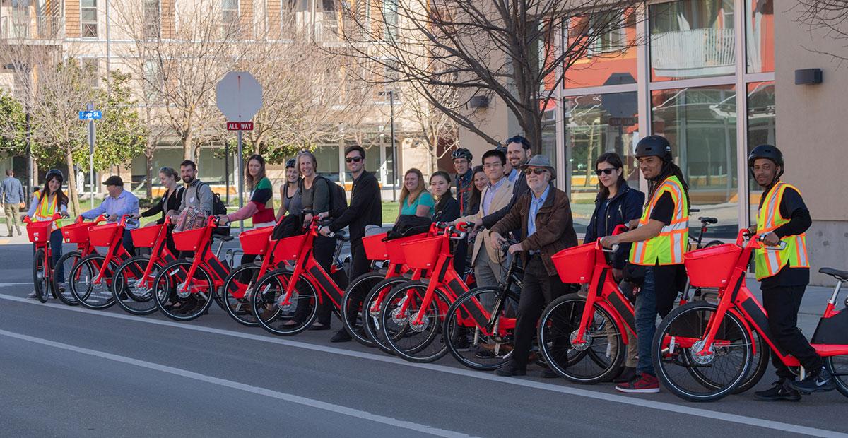 Students on Jump Bikes